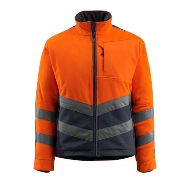Fleece Jacket hi-vis orange/dark navy