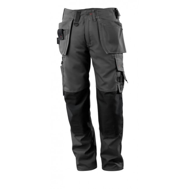 Trousers with kneepad pockets and holster pockets  dark anthracite