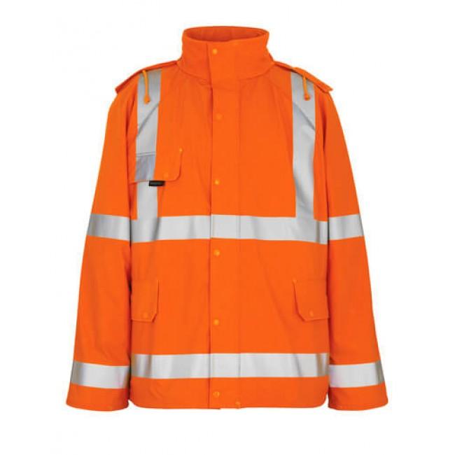 Rain Jacket hi-vis orange