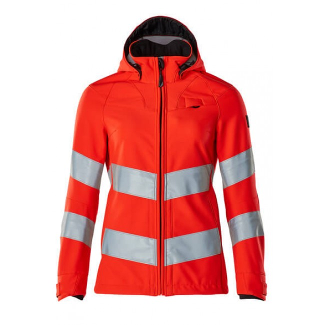 Softshell Jacket hi-vis red