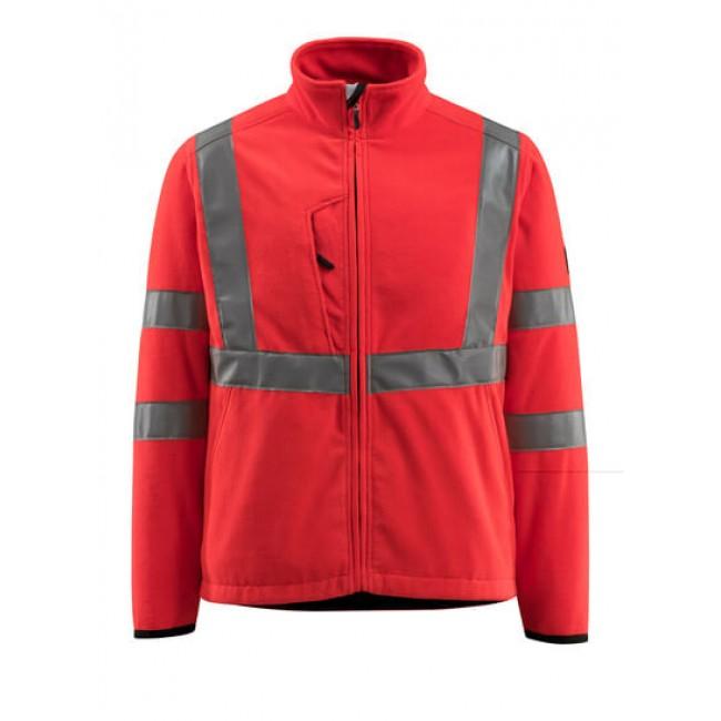 Fleece Jacket hi-vis red