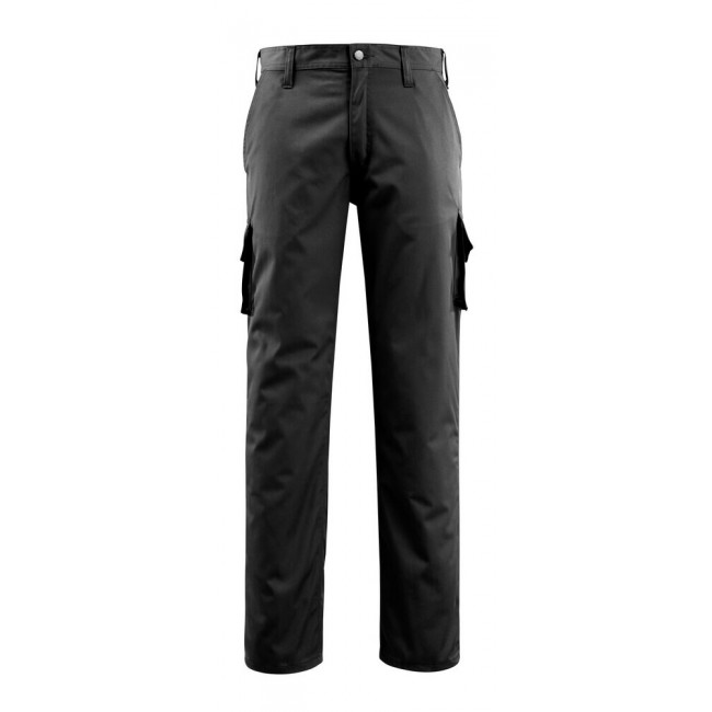 Trousers with thigh pockets black